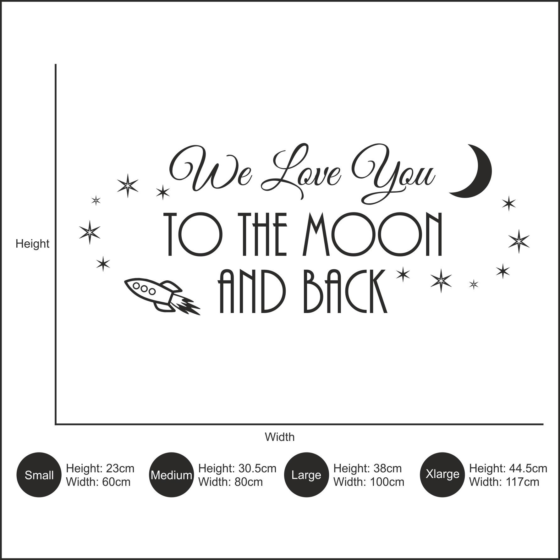 We Love You To The Moon And Back – Big Paw Print Wall Art In Love You To The Moon And Back Wall Art (View 19 of 20)