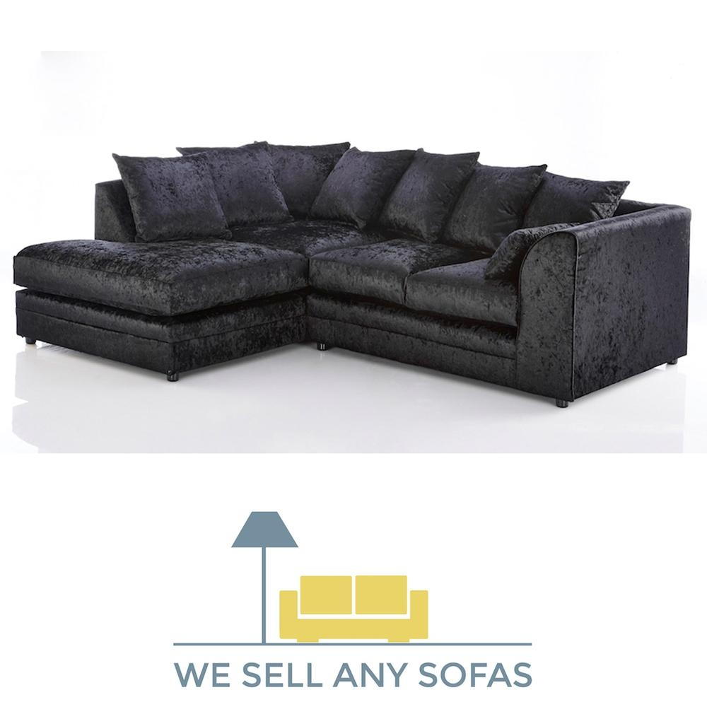 We Sell Any Sofas | Crushed Velvet, Leather, Fabric & Corner Inside Black Velvet Sofas (Image 20 of 20)