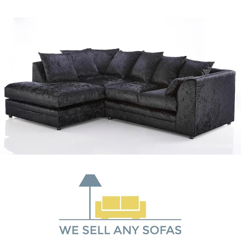 We Sell Any Sofas | Crushed Velvet, Leather, Fabric & Corner Inside Black Velvet Sofas (Image 20 of 20)