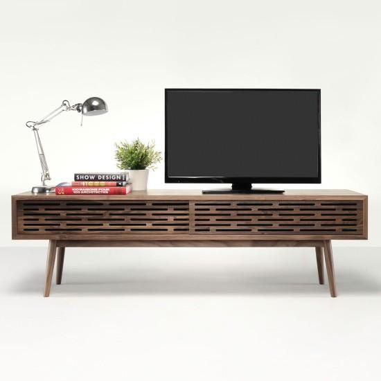 We Wood Radio Solid Walnut Tv Cabinet | Radio Solid Walnut Tv Throughout Current Walnut Tv Cabinet (Image 20 of 20)