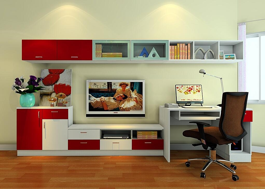 Wedding Bedroom Tv Cabinet And Desk Combo | 3D House With Most Current Tv Stand And Computer Desk Combo (Image 20 of 20)