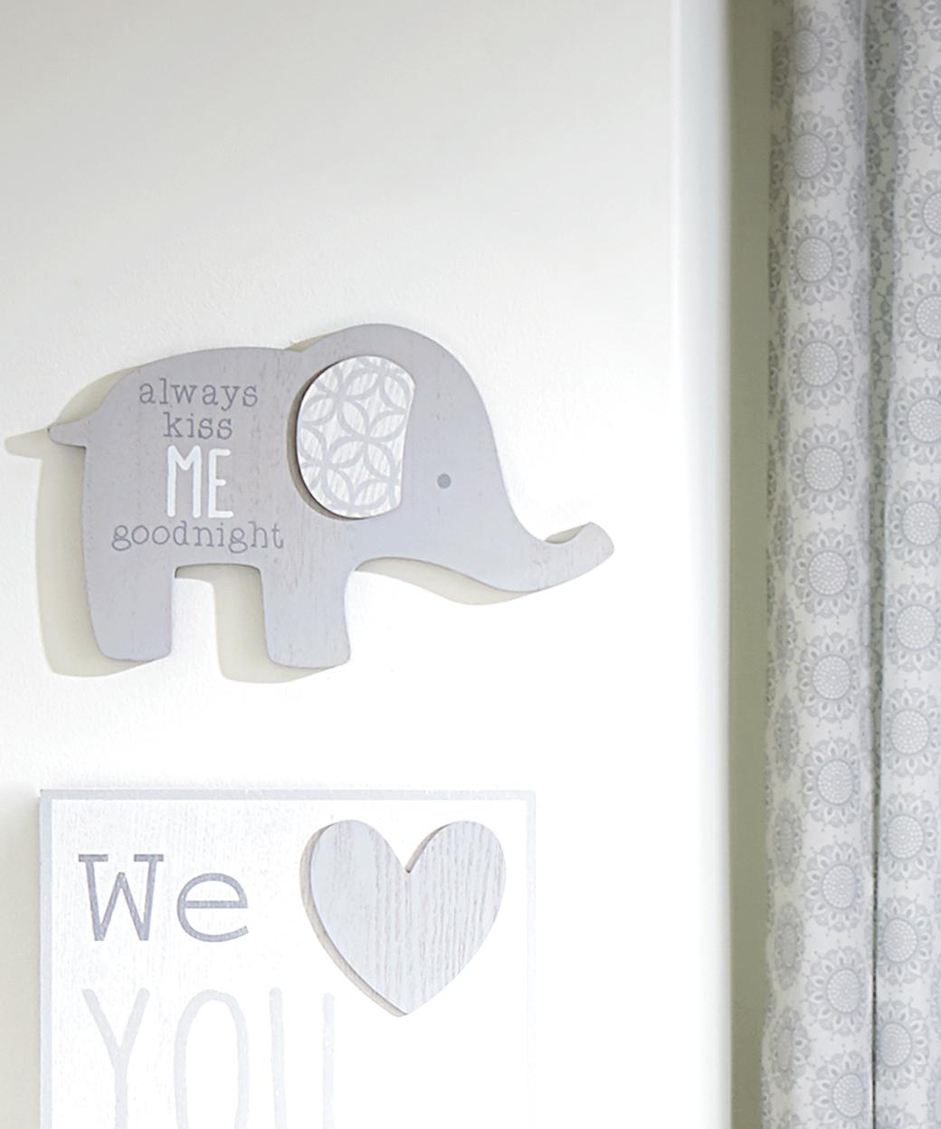 Wendy Bellissimo Nursery Separates Elephant Wall Art | Wendy Throughout Elephant Wall Art For Nursery (View 2 of 20)
