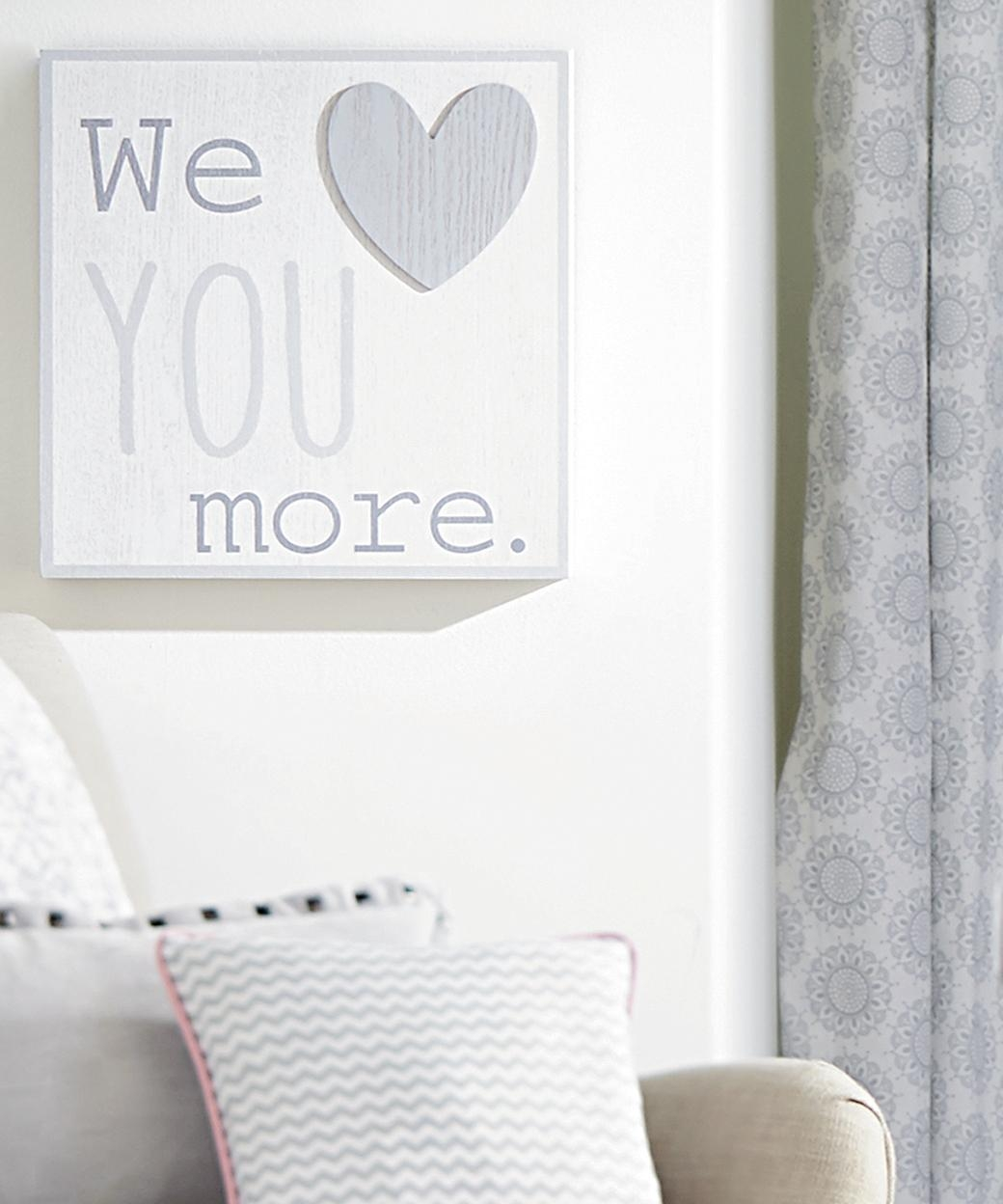 Wendy Bellissimo Nursery Separates We Love You More Wall Art Inside I Love You More Wall Art (View 16 of 20)