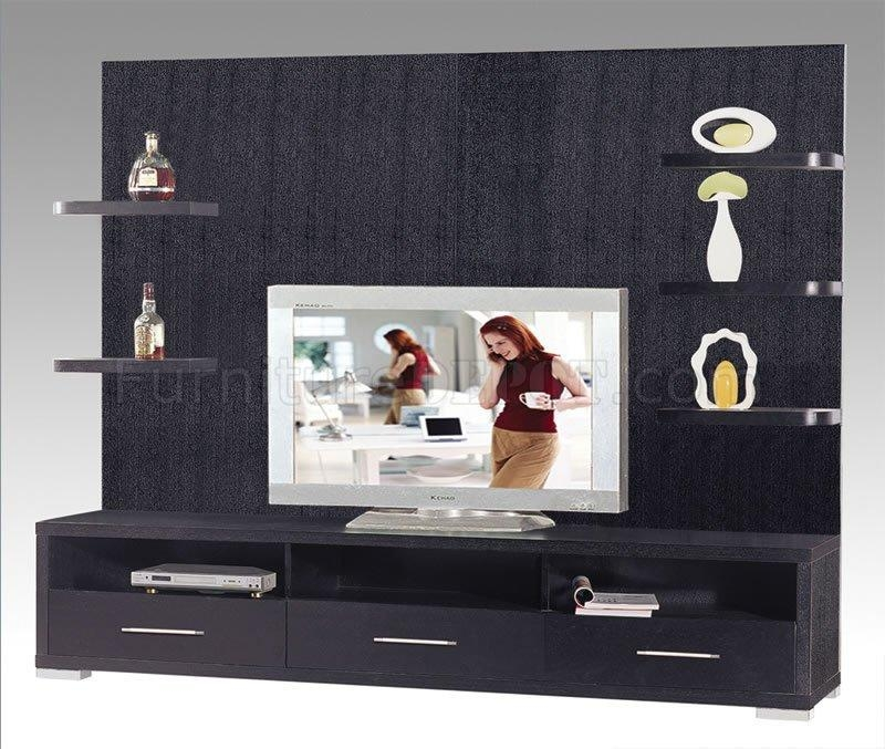 Wenge Finish Contemporary Tv Stand With Drawers & Shelves For Newest Tv Stands With Drawers And Shelves (Image 20 of 20)