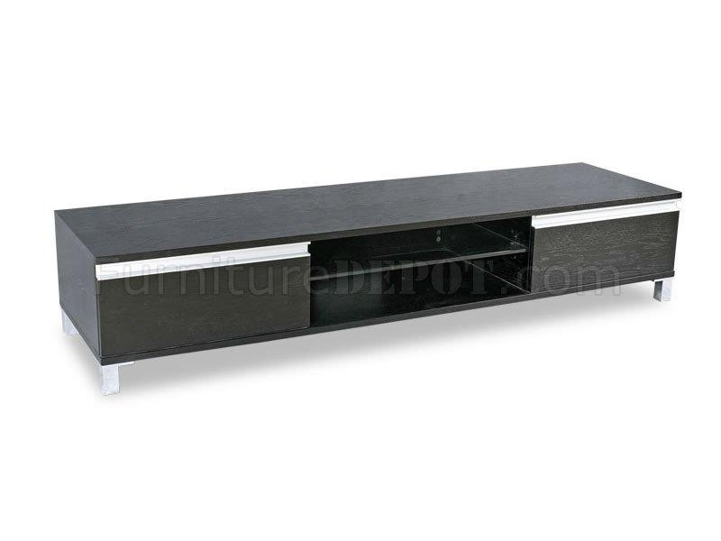 Wenge Finish Contemporary Tv Stand With Storage Cabinets Throughout 2017 Modern Low Profile Tv Stands (Image 20 of 20)