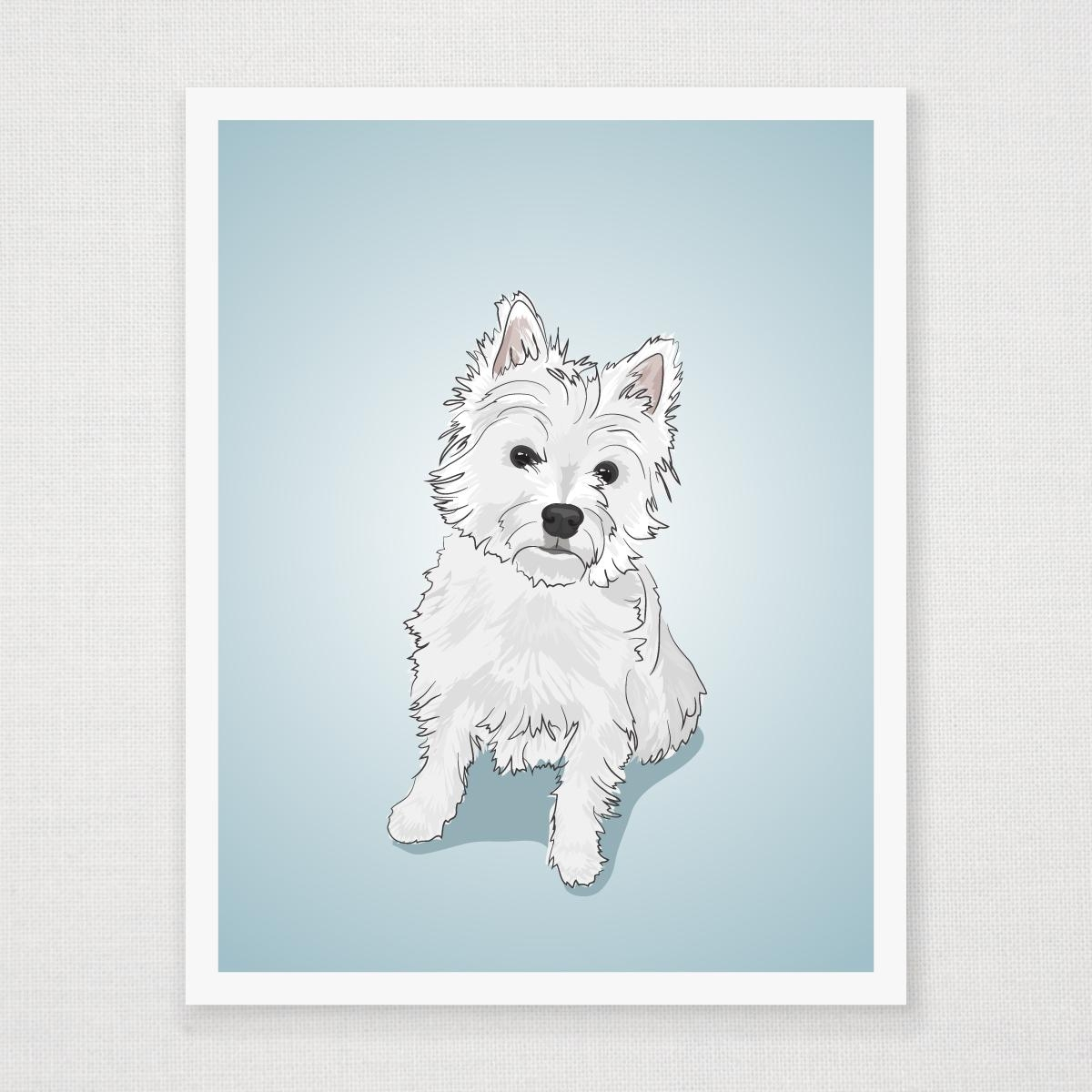 West Highland White Terrier Art Print With Regard To Westie Wall Art (View 2 of 20)