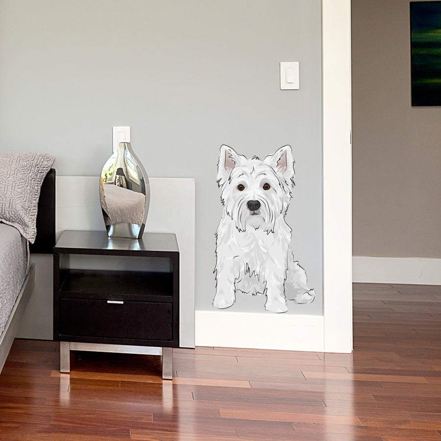 Westie Printed Wall Decal Throughout Westie Wall Art (Image 20 of 20)