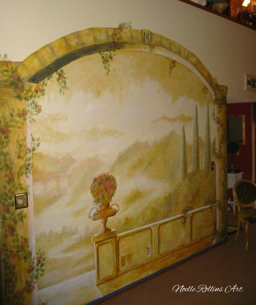 When A Mural Is Painted Over Your Gift Erased With Italian Countryside Wall Art (View 18 of 20)