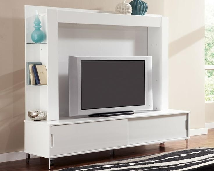 White 80 Inch Tv Stand With Back Panel And Shelves | Live With Most Up To Date Tv Stands With Back Panel (View 20 of 20)