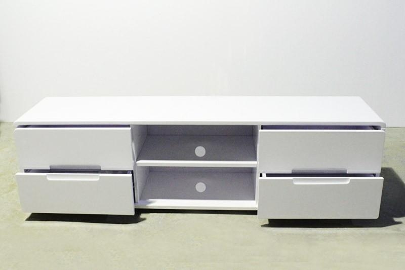White Black Glass Stand Tv Lcd Units Cabinet  (Image 16 of 20)
