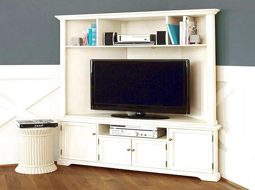 White Corner Tv Stands For Flat Screens | Innards Interior Regarding Newest Tall Tv Stands For Flat Screen (Image 20 of 20)