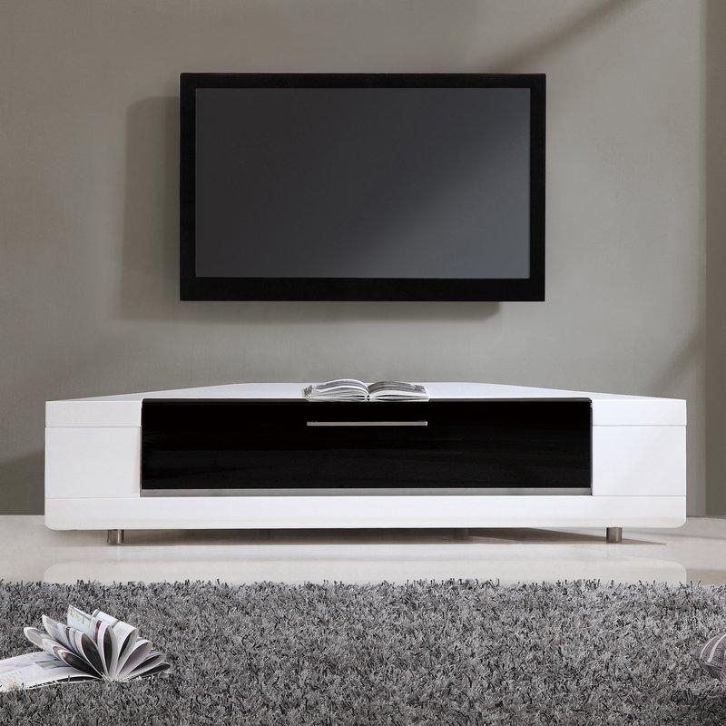 White Corner Tv Stands You'll Love | Wayfair With Regard To 2017 Wayfair Corner Tv Stands (Image 20 of 20)