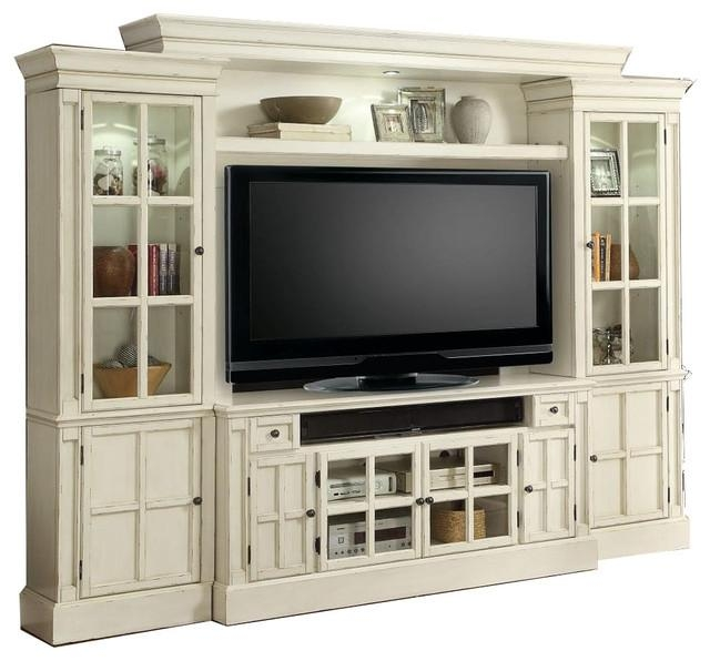 White Entertainment Center Tv Stand Wall Unit Charlotteparker Pertaining To Current Tv Entertainment Wall Units (Image 20 of 20)