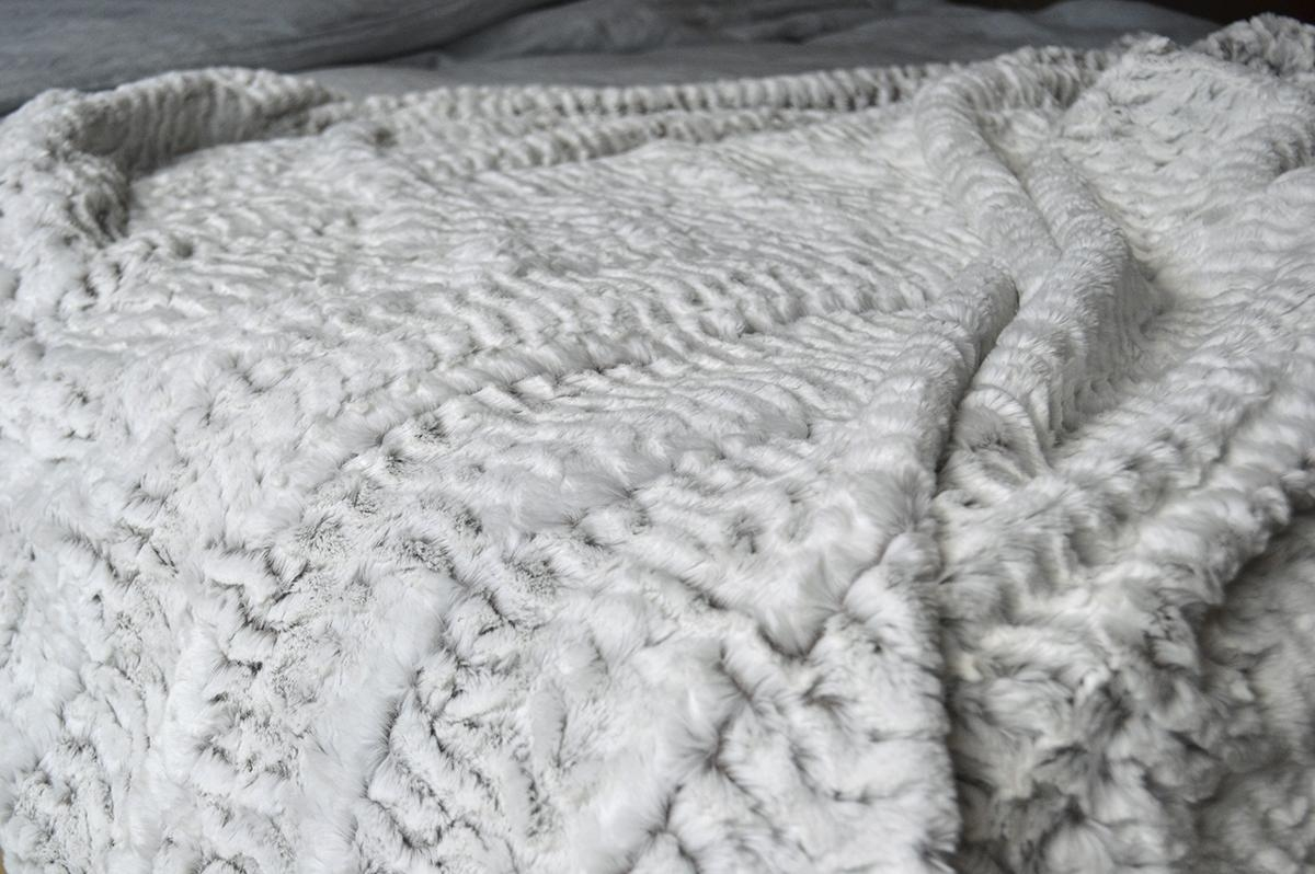 White Faux Fur Throws | Blankets | Natural Bed Company Pertaining To Grey Throws For Sofas (View 12 of 20)