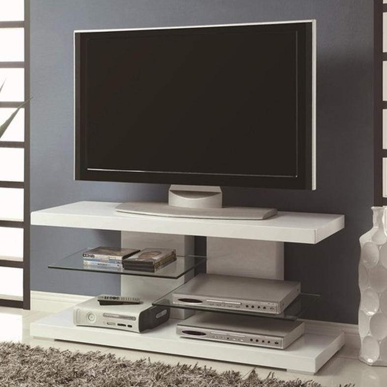White Glass Tv Stand – Steal A Sofa Furniture Outlet Los Angeles Ca With Regard To Newest Red Gloss Tv Stands (Image 20 of 20)