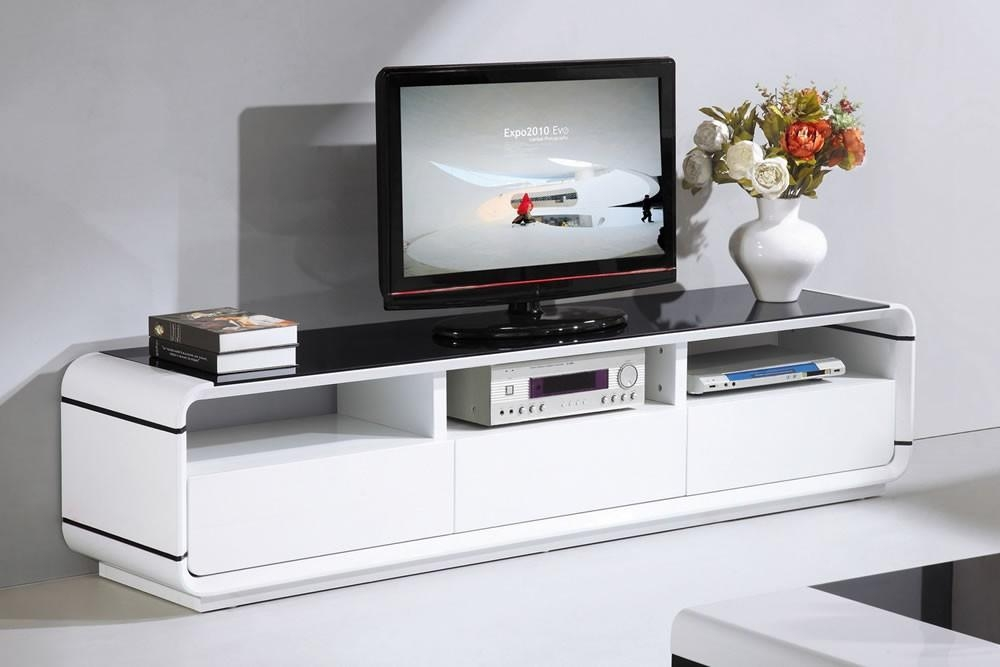 White Gloss Furniture – Unique & Modern Designs In Current Black High Gloss Corner Tv Unit (Image 20 of 20)