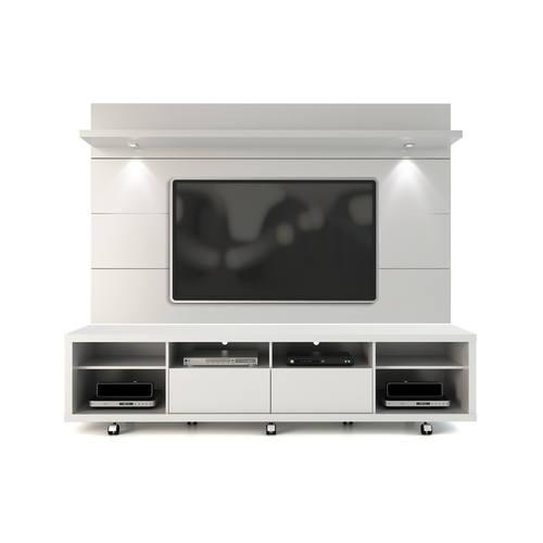 White Gloss Tv Stand & Floating Wall Tv Panel W/ (Image 20 of 20)