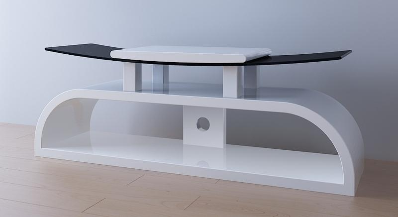 White Gloss Tv Stand – Television Stand – Wood Tv Stand Throughout Newest White Gloss Corner Tv Stand (View 12 of 20)