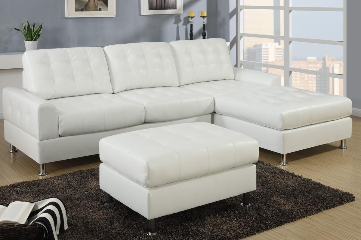 White Leather Sofa For A Coffee Table — The Furnitures Pertaining To Ivory Leather Sofas (Image 19 of 20)
