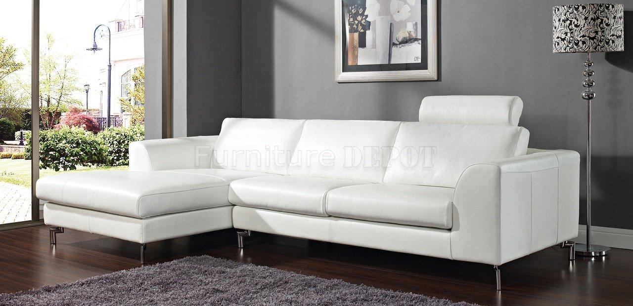 White Leather Sofa Sectionals | Centerfieldbar For White Sectional Sofa For Sale (View 5 of 21)