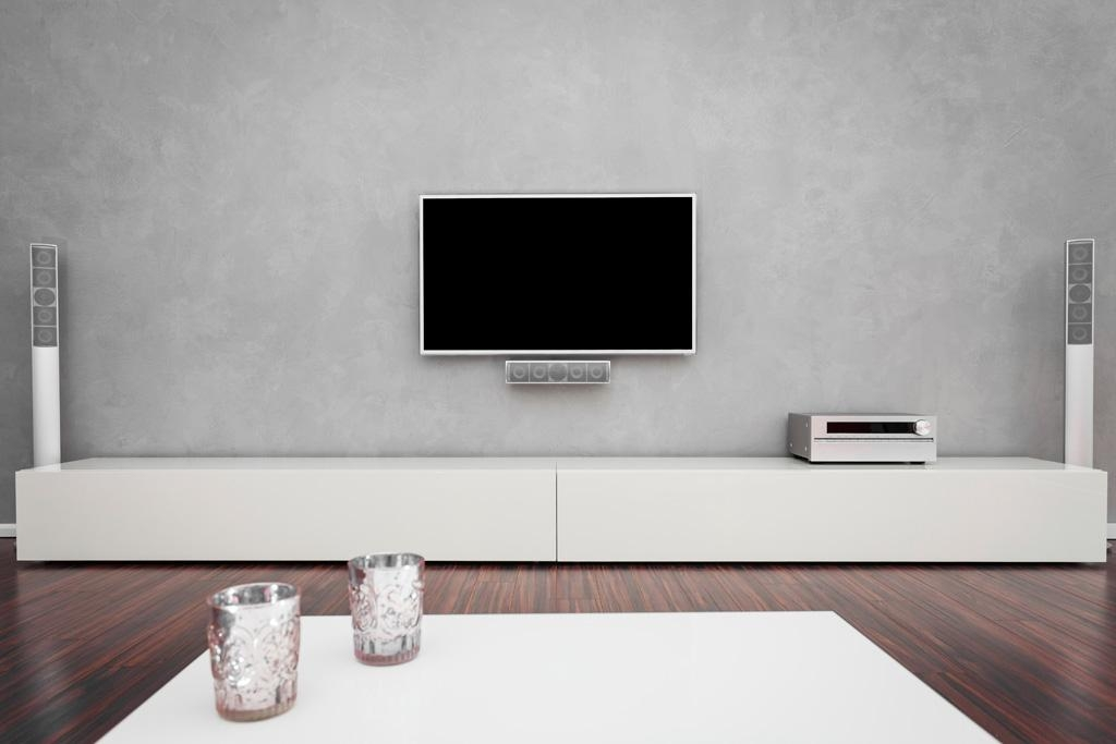 White Long Bespoke Tv Unit | Bespoke Furniture | Fitted Wardrobes With Most Recent Long White Tv Cabinets (Image 19 of 20)