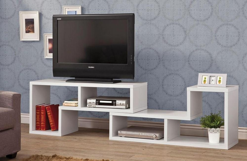 White Tv Stand Display Inside Recent White Tv Stand Modern (Image 18 of 20)