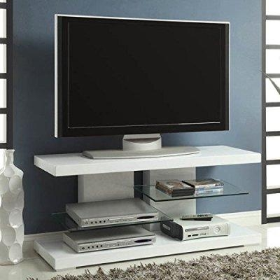 White Tv Stands For Flat Screens: Top 7 Most Popular White Tv With Regard To Most Up To Date Contemporary Tv Stands For Flat Screens (Image 20 of 20)