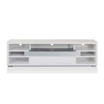 White – Tv Stands – Living Room Furniture – The Home Depot Intended For 2018 White Tv Stands (Image 17 of 20)