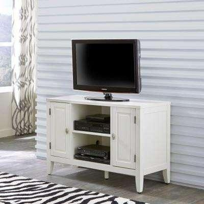 White – Tv Stands – Living Room Furniture – The Home Depot Within Most Recent White Tv Stands (View 11 of 20)
