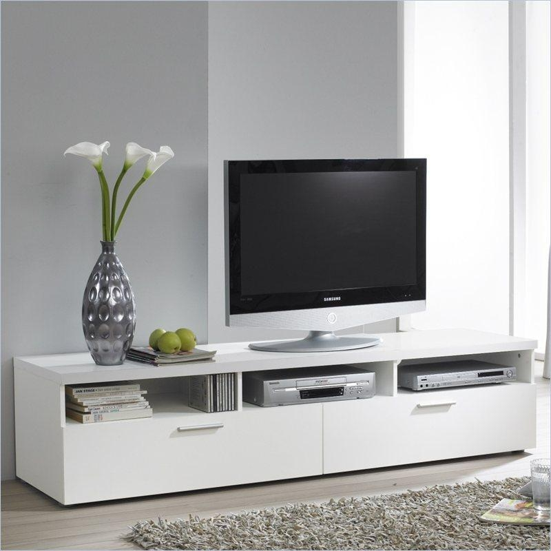 White Tv Stands White Gloss Tv Stand Milano 157 Concept Muebles Regarding Newest Long White Tv Cabinets (View 19 of 20)