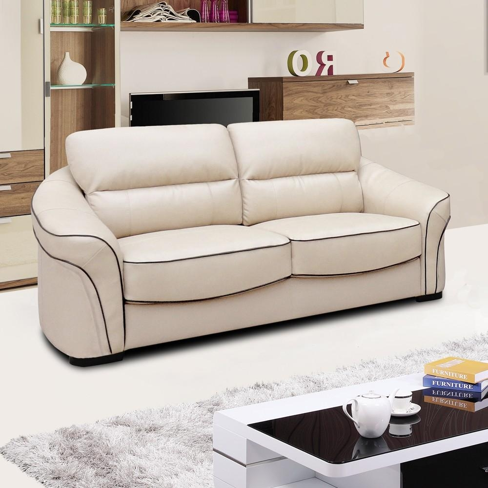 White Types Of Colours For Leather Sofa : New Lighting Inside Ivory Leather Sofas (View 6 of 20)