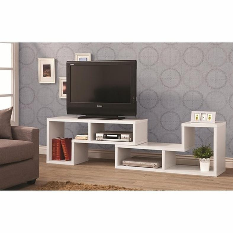 White Wood Tv Stand – Steal A Sofa Furniture Outlet Los Angeles Ca For Most Recent Rectangular Tv Stands (Image 20 of 20)