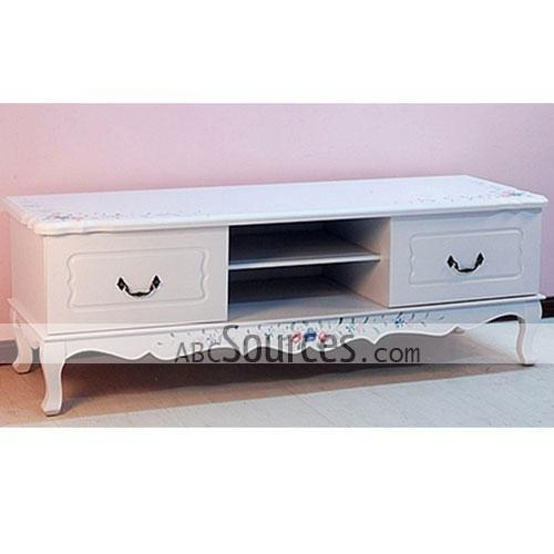 Wholesale Elegant White Wooden Tv Cabinet Stands Furniture Pertaining To Most Recent