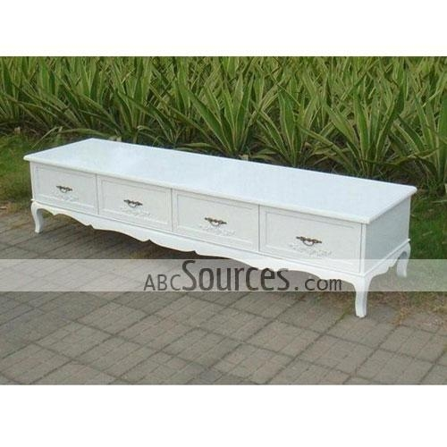 Wholesale S Size 150Cm White Wooden Tv Cabinet/ Tv Stands/ Tv Regarding Best And Newest White Wood Tv Stands (Image 20 of 20)