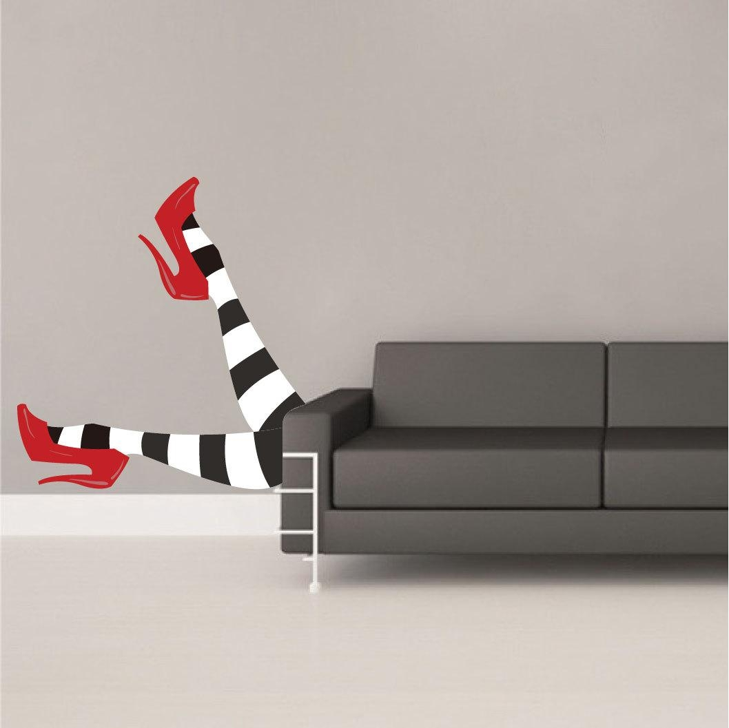 Wicked Witch Legs Decal Wizard Of Oz Wall Decals Witch Within Wizard Of Oz Wall Art (Image 18 of 20)