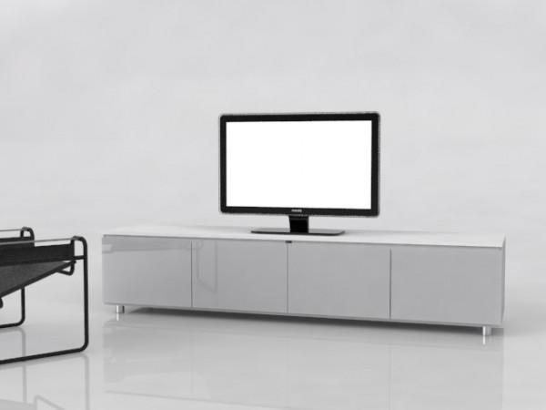 Wide And Low Tv Cabinet Collection | Rousseau Design Throughout 2017 Tv Cabinet Gloss White (Image 20 of 20)