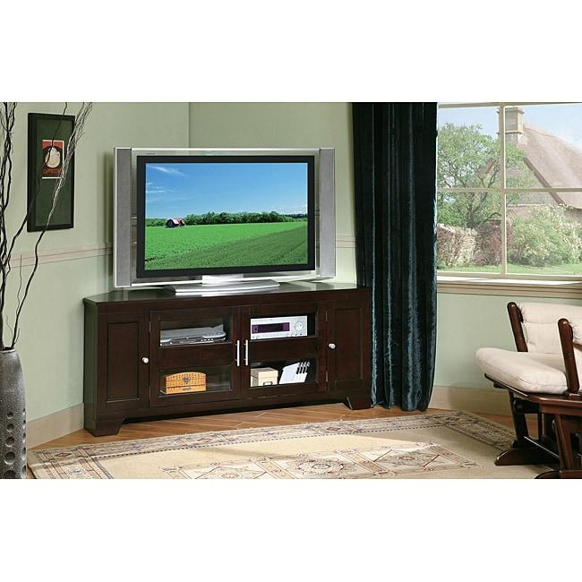 William's Home Furnishing 60 Inch Corner Tv Stand – Free Shipping For Newest Corner 60 Inch Tv Stands (View 3 of 20)