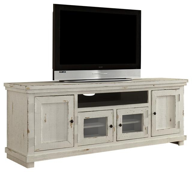 "Willow Entertainment 74"" Console – Rustic – Entertainment Centers With Regard To Most Recent Rustic White Tv Stands (View 19 of 20)"