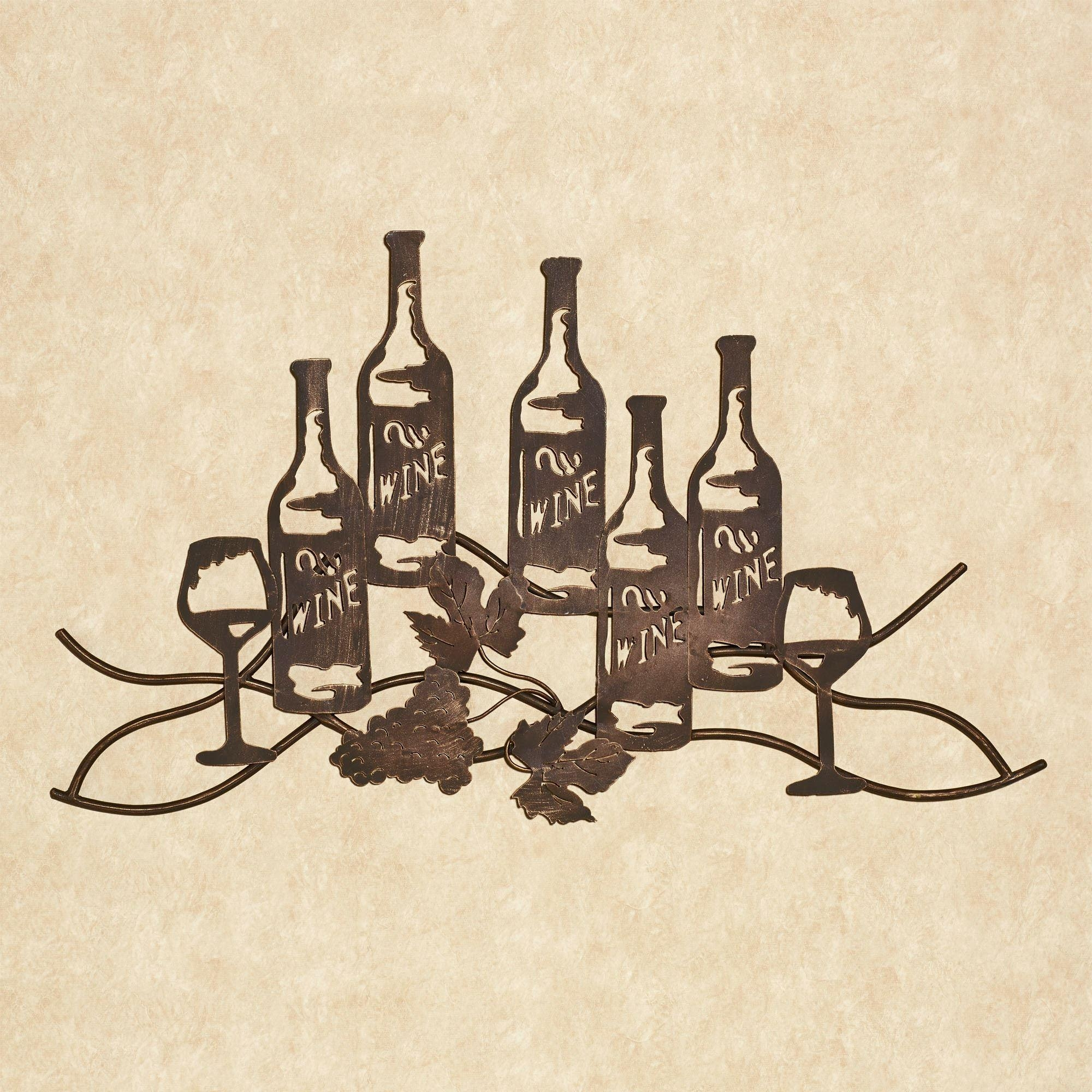 Wine And Grapes Metal Wall Art With Wine And Grape Wall Art (View 8 of 20)