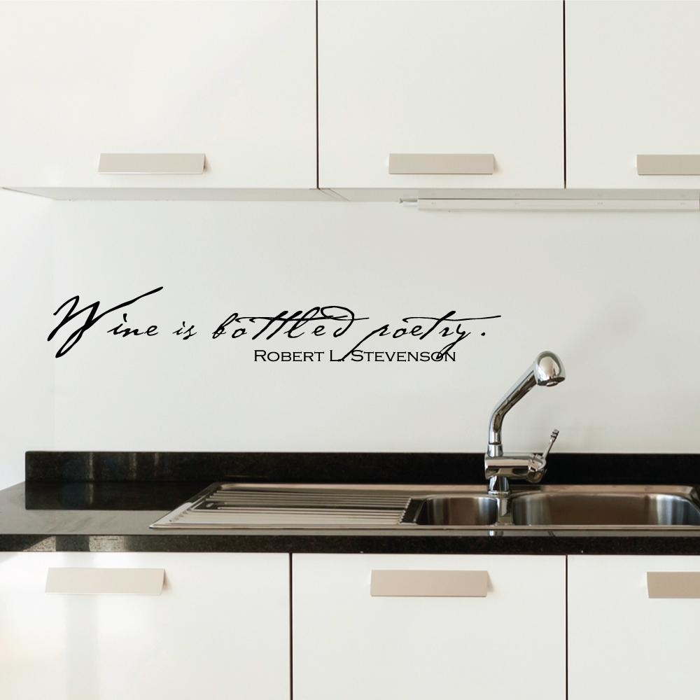 Wine Is Bottled Poetry Wall Art Decals Intended For Italian Phrases Wall Art (View 20 of 20)