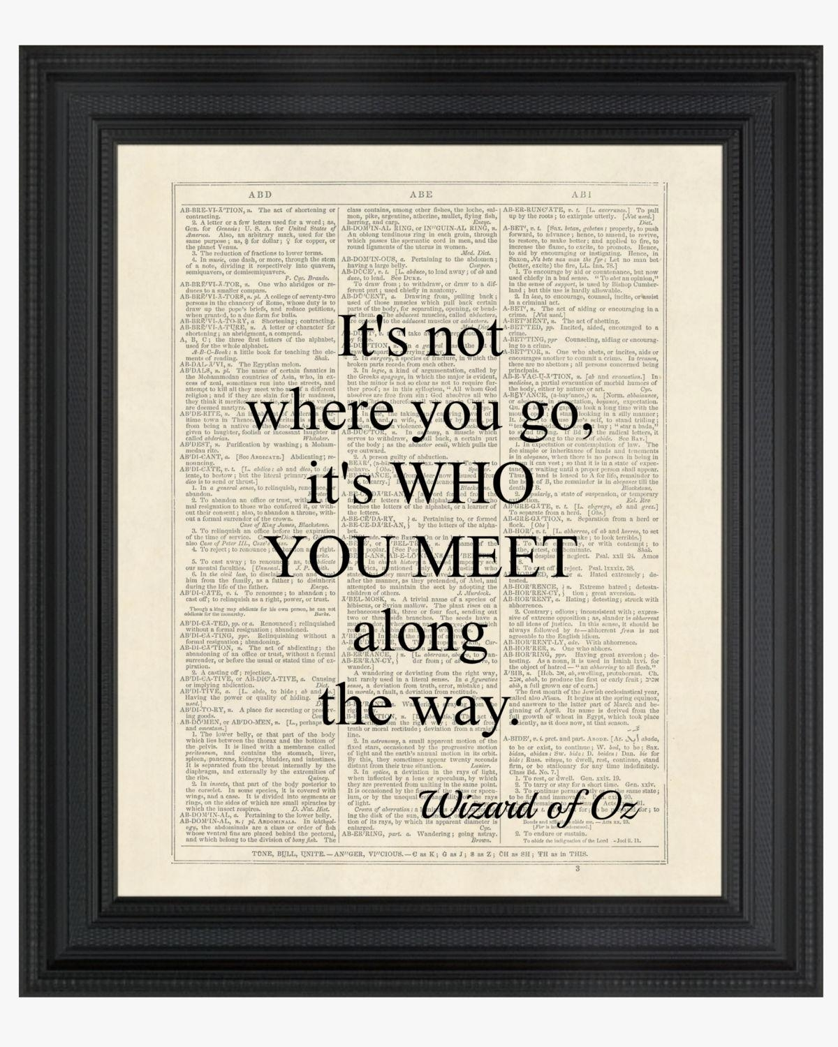 Wizard Of Oz Quote Dorothy It's Not Where You Go Within Wizard Of Oz Wall Art (Image 20 of 20)