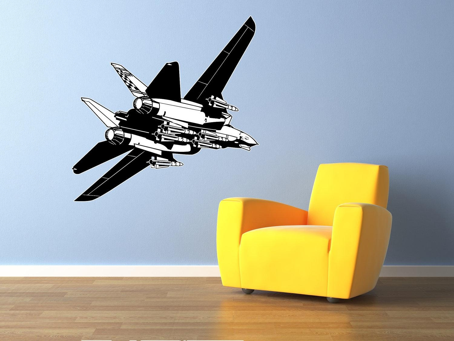 Wonderful Airplane Wall Decor Nursery Airplane Wall Decals Within Metal Airplane Wall Art (View 11 of 20)