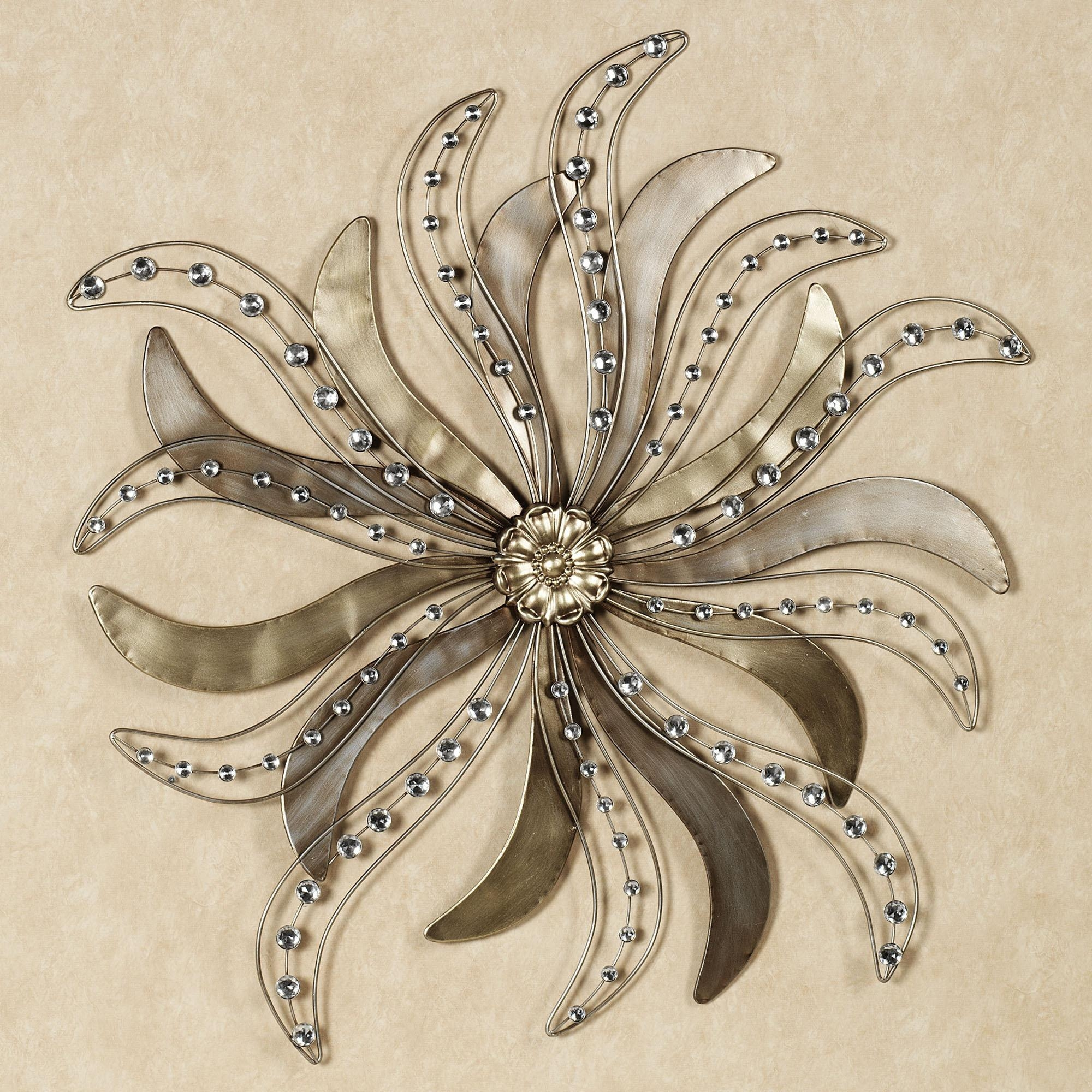 Wonderful Flower Metal Wall Art Decoration 111 Verona Flowers Pertaining To Silver Metal Wall Art Flowers (View 5 of 20)