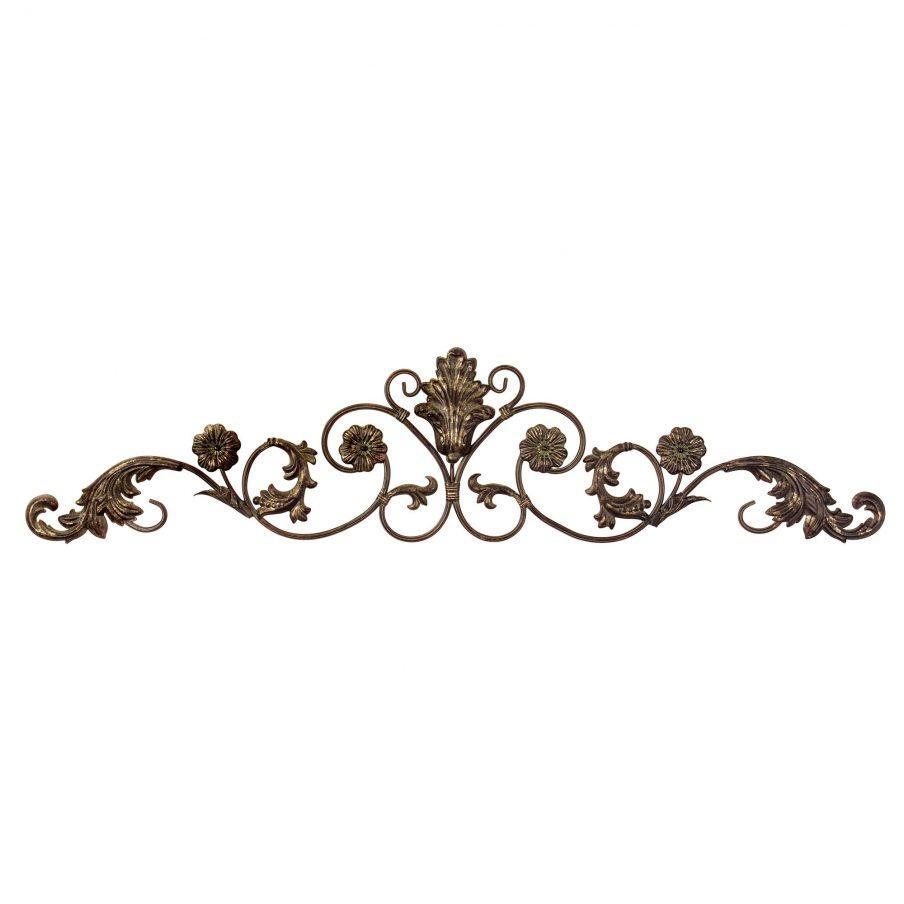 Wondrous Iron Scroll Wall Art Decor Classic Gold Curled Iron Intended For Iron Scroll Wall Art (Image 19 of 20)