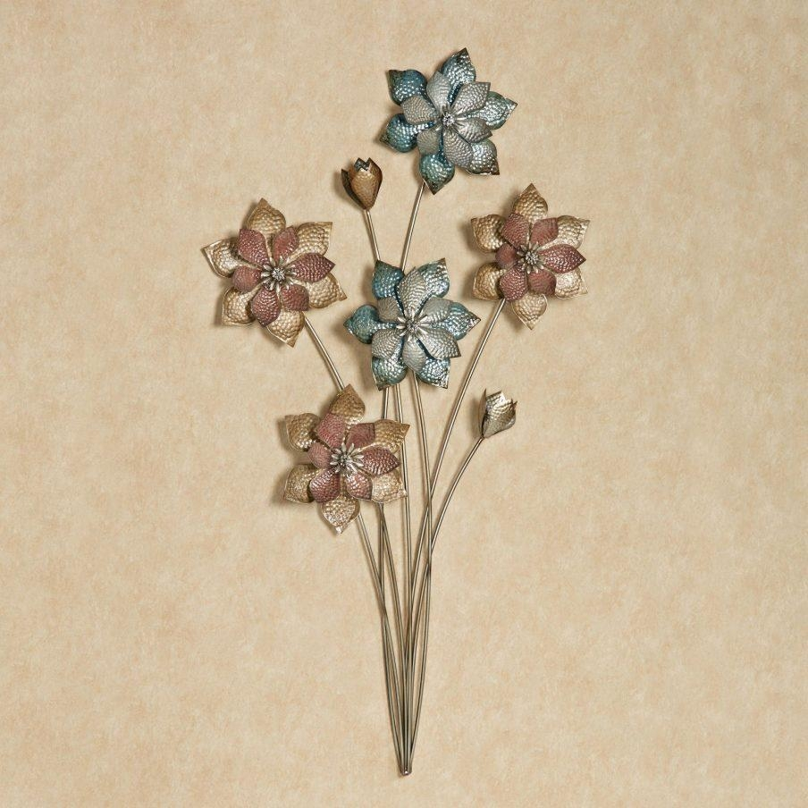 Wondrous Silver Metal Wall Art Flowers Evening Flowers Metal Wall Throughout Silver Metal Wall Art Flowers (Image 20 of 20)