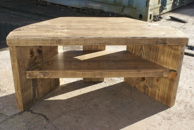 Wood Corner Tv Stands – Foter In 2018 Large Corner Tv Stands (View 4 of 20)