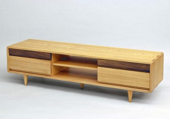 Wood Gallery Itsuki | Rakuten Global Market: Tv Units Tv Sideboard Pertaining To Most Current Tv Stands With Rounded Corners (View 9 of 20)