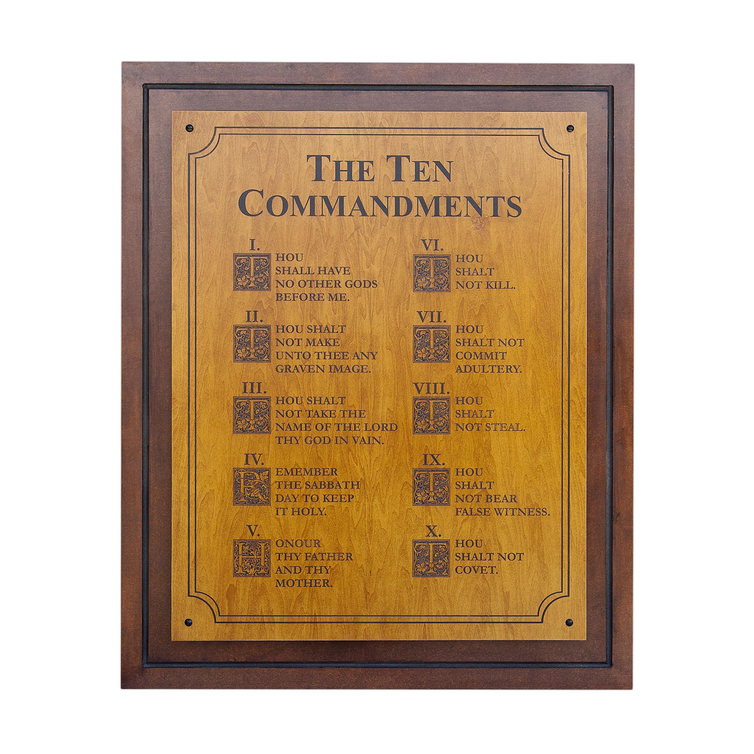 Wood Podiums, Pulpits & Lecterns Https://ahrhwoodcreations In 10 Commandments Wall Art (Image 20 of 20)