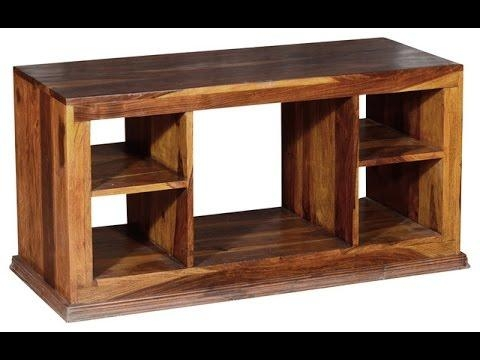 Wood Tv Stand | Wood Tv Stand With Bracket – Youtube In Best And Newest Wooden Tv Stands With Doors (Image 19 of 20)