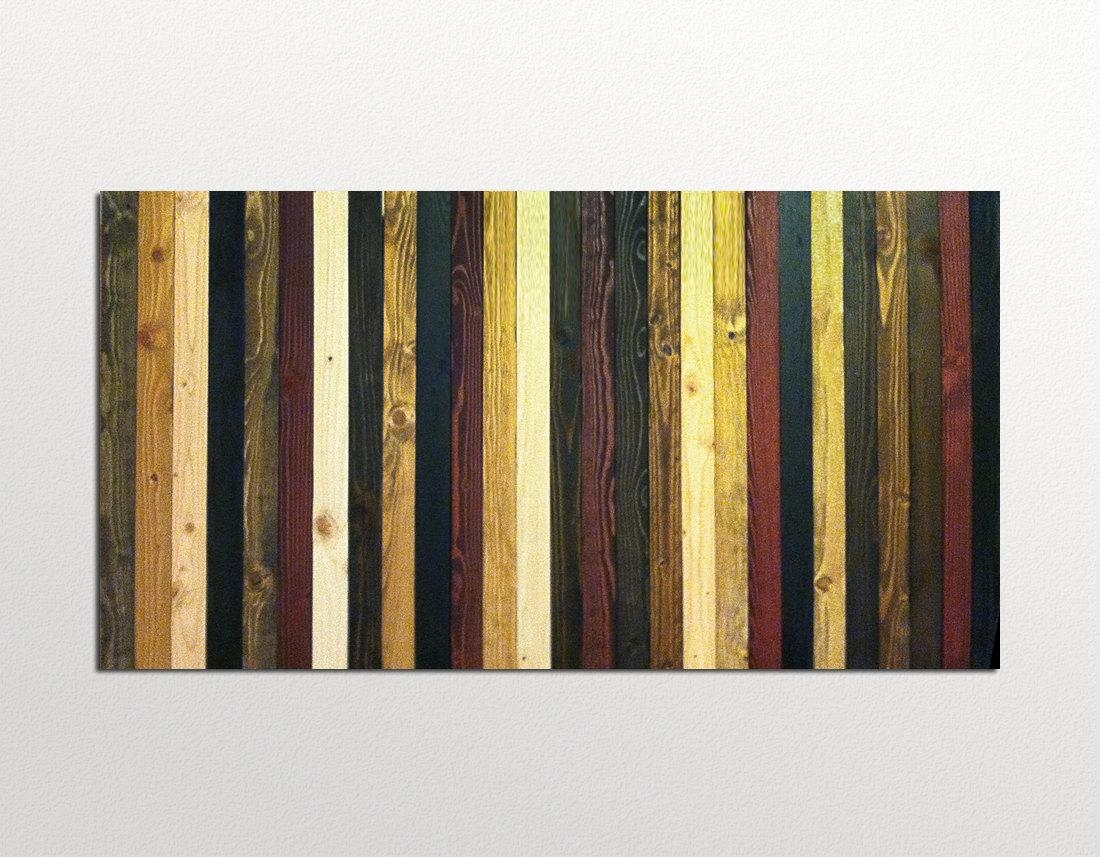 Wood Wall Art Sculpture Stained Stripes In Wood Stains In Stained Wood Wall Art (View 1 of 20)